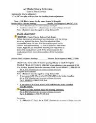 Air Brake Quick Reference Sheet Genes Truck Service Inc