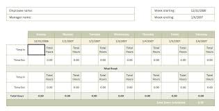 Hourly Timesheet Template Excel Professional Resume