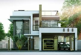 Great Modern House Designs Series MHD 2014010 Features A 4 Bedroom 2 Modern 4  Bedroom Bungalow House .