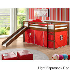 childrens twin size beds. Delighful Twin Shop Donco Kids Twinsize Tent Loft Bed With Slide  On Sale Free  Shipping Today Overstockcom 8099662 With Childrens Twin Size Beds