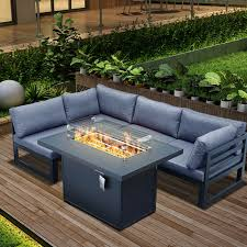 fire pit table set 5 pc outdoor patio