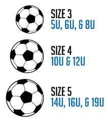 Soccer Ball Size Chart Ball Size Chart