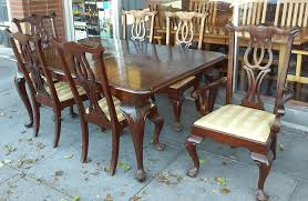 sold 13645 mayco vine claw footed dining set 44 x 72 table 6 chairs 150