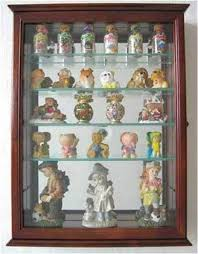 glass display case wall curio cabinet