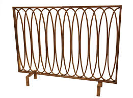 antique gold fireplace screen golden branch and log holder circles fire contemporary screens rose