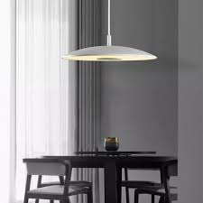 frosted glass shallow round pendant