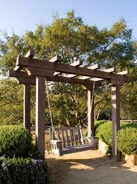 Small Picture Garden Swings The Enchanting Element in Your Backyard Wooden