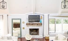 Diy Fireplace Mantel Wood Beam Mantel Diy For Under 30 Fireplace Makeover