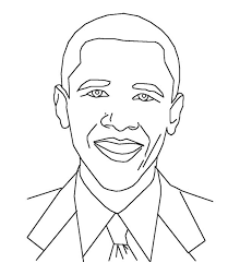 Small Picture Barack Obama Coloring Page Free Download