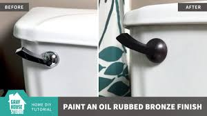 how to paint an oil rubbed bronze finish