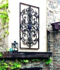 exterior metal wall art