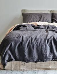 seerer duvet cover king size linen duvet cover king charcoal white seerer king size duvet cover