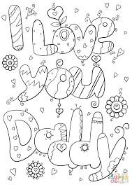 Small Picture I Love You Daddy coloring page Free Printable Coloring Pages