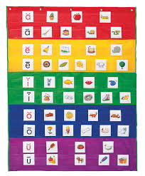Classroom Pocket Charts Learning Resources Rainbow Pocket Chart 33 1 2 L X 42 H Inches