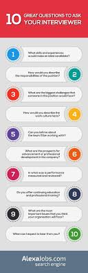 ideas about supervisor interview questions 10 great questions to ask your interviewer infographic often job interviews can feel like an interrogation but they re meant to be a conversation