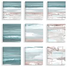 gentle abstract memory beach landscapes 9 piece canvas wall art set 12 x12 beach style prints and posters by stupell industries