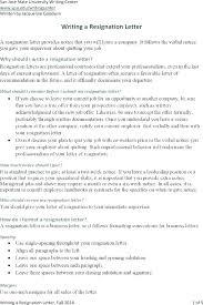 Letter Of Resignation Sample Exit Letter Template