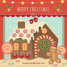 gingerbread house clipart background. Brilliant Clipart Christmas Card With Gingerbread House Free Vector And Gingerbread House Clipart Background O
