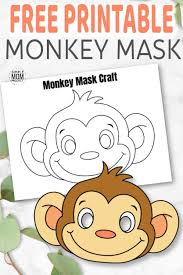 Perfect for hero, villain, or character themed costumes and parties! Free Printable Monkey Mask Template Simple Mom Project
