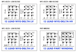 6 lead 3 phase motor wiring diagram efcaviation com 3 phase 6 lead motor wiring diagram 6 lead 3 phase motor wiring diagram 12 lead generator wiring diagrams on 12 images