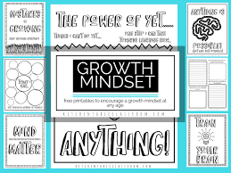 Growth Mindset Printables And Coloring Sheets For Kids Homeschool