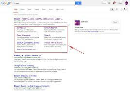 how do you change the 6 links under your website in google moz q a eteach screenshot on google