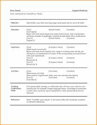 Quick Resume Template Resume Online Builder