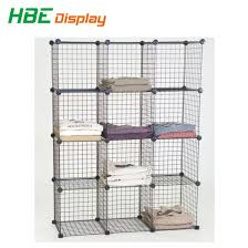 diy dssemble metal wire cube t shirt storage stacking rack pictures photos