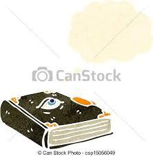 retro cartoon spell book csp15056049