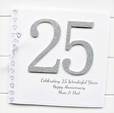 handmade silver wedding anniversary cards for husband tbrb info Silver Wedding Anniversary Emcee Script 25th anniversary card personalised wedding silver wife husband Wedding Reception Program