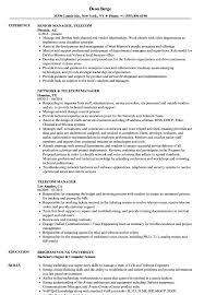 Telecom Resume Examples Telecom Project Manager Cv Examples Resume Samples Sales Samples 36