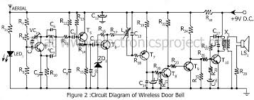 wireless controlled door bell electronics project circuit diagram of wireless door bell