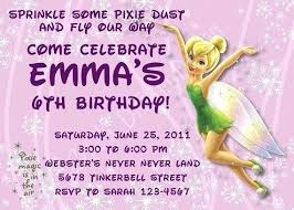 Tinkerbell Invitations Printable Tinkerbell Party Invitations Cosmit