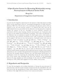 Lightly Synonym Pdf A Specification System For Measuring Relationship Among
