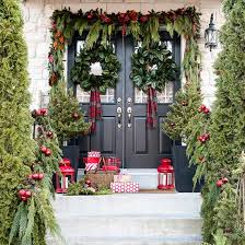 Collection office christmas decorations pictures patiofurn home Desk These Farmhouseinspired Christmas Porches Could Be From Fixer Upper Yhomeco Outdoor Christmas Decorations Better Homes Gardens