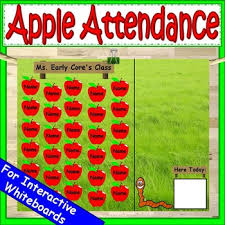 Whos Here Today Chart Apple Attendance Worksheets Teaching Resources Tpt