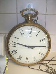 american vintage pocket watch wall clock w chain united clock company usa 1 of 5only 1 available