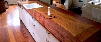 solid timber kitchen benchtop