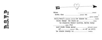 free wedding invitation template with inserts Wedding Invitations M Blank r s v p insert Printable Wedding Invitation Templates