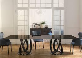porada infinity rectangular dining table