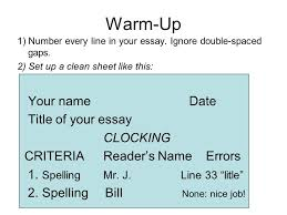 warm up number every line in your essay ignore double spaced warm up 1 number every line in your essay ignore double spaced