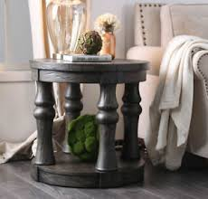 rustic round end table. Image Is Loading Mika-Rustic-Style-Round-End-Table-Wooden-Top- Rustic Round End Table