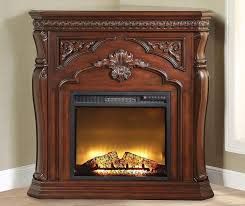 42 cherry corner electric fireplace at big