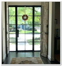 exterior metal doors steel door with window of glass front and used stee