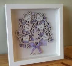 hand made personalised family tree box frame