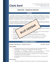 Blue Sidebar