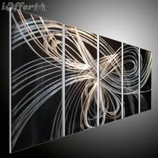 metal art canvas art modern abstract oil painting