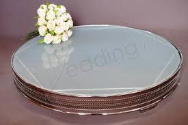 wedding round frosted glass 22 inch cake stand hire wedding wish image 1