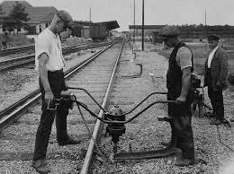 installation of a conductor rail ca 1928