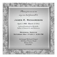 memorial service invitation elegant grey marble memorial service invitation invitations 4 u